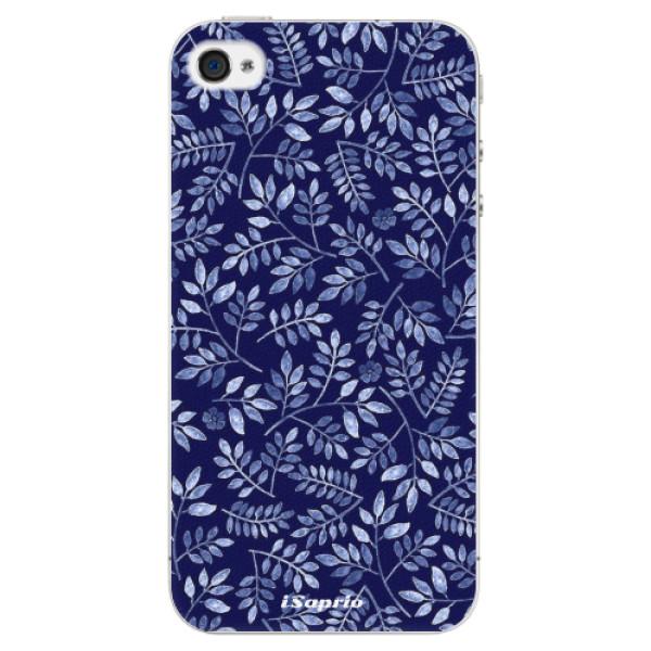 Plastové pouzdro iSaprio - Blue Leaves 05 - iPhone 4/4S