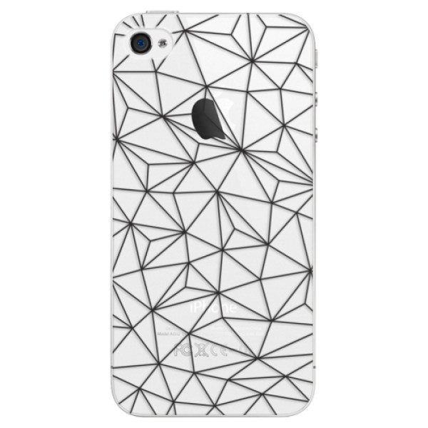 Plastové pouzdro iSaprio - Abstract Triangles 03 - black - iPhone 4/4S