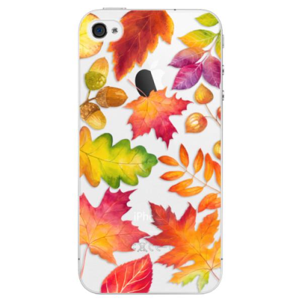 Plastové pouzdro iSaprio - Autumn Leaves 01 - iPhone 4/4S