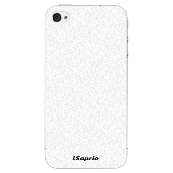 Plastové pouzdro iSaprio - 4Pure - bílý - iPhone 4/4S