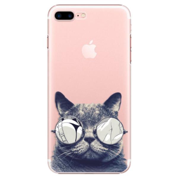 Plastové pouzdro iSaprio - Crazy Cat 01 - iPhone 7 Plus