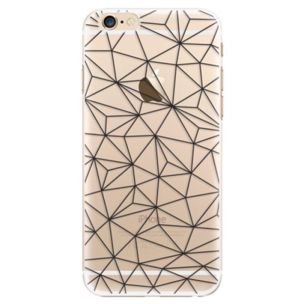 Plastové pouzdro iSaprio - Abstract Triangles 03 - black - iPhone 6/6S