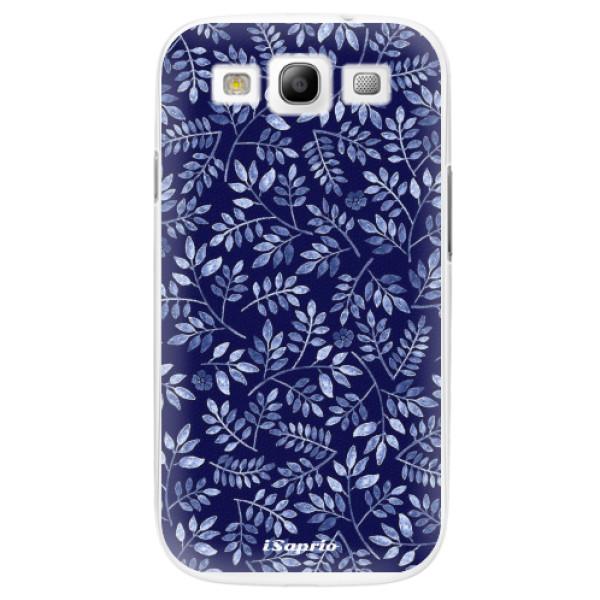 Plastové pouzdro iSaprio - Blue Leaves 05 - Samsung Galaxy S3