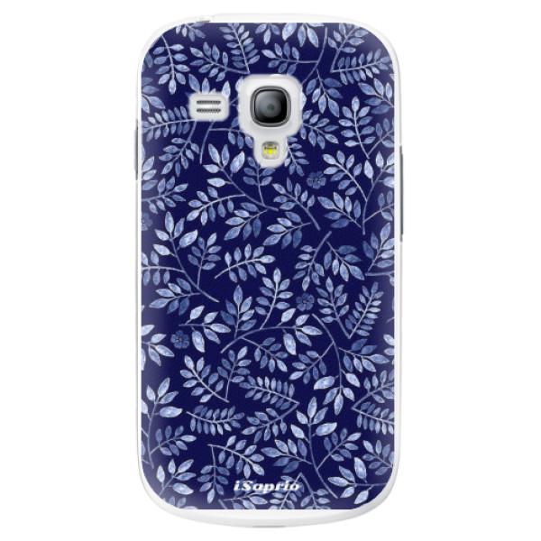 Plastové pouzdro iSaprio - Blue Leaves 05 - Samsung Galaxy S3 Mini