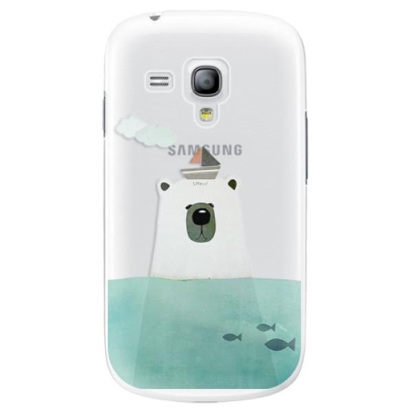 Plastové pouzdro iSaprio - Bear With Boat - Samsung Galaxy S3 Mini