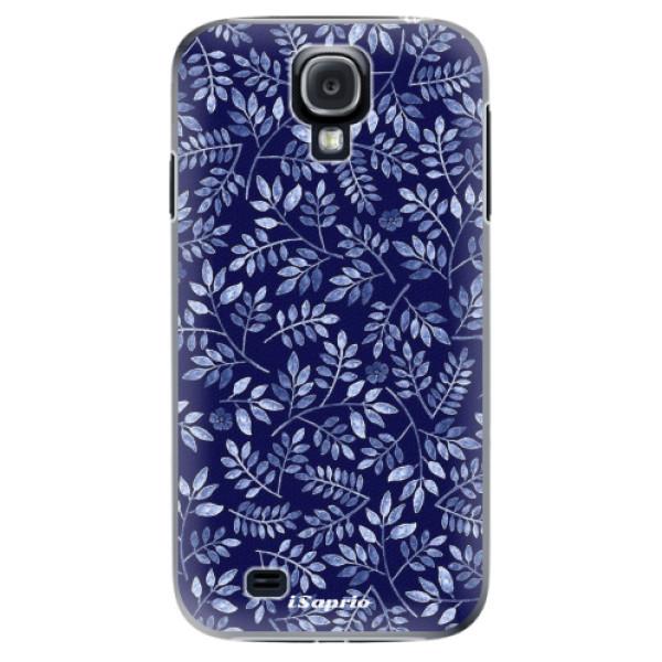 Plastové pouzdro iSaprio - Blue Leaves 05 - Samsung Galaxy S4