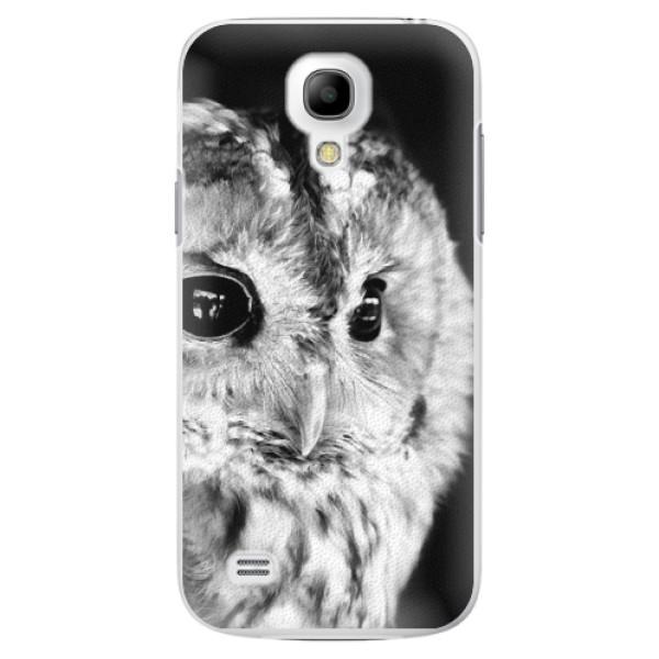 Plastové pouzdro iSaprio - BW Owl - Samsung Galaxy S4 Mini