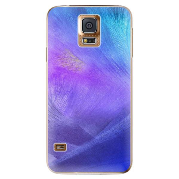 Plastové pouzdro iSaprio - Purple Feathers - Samsung Galaxy S5