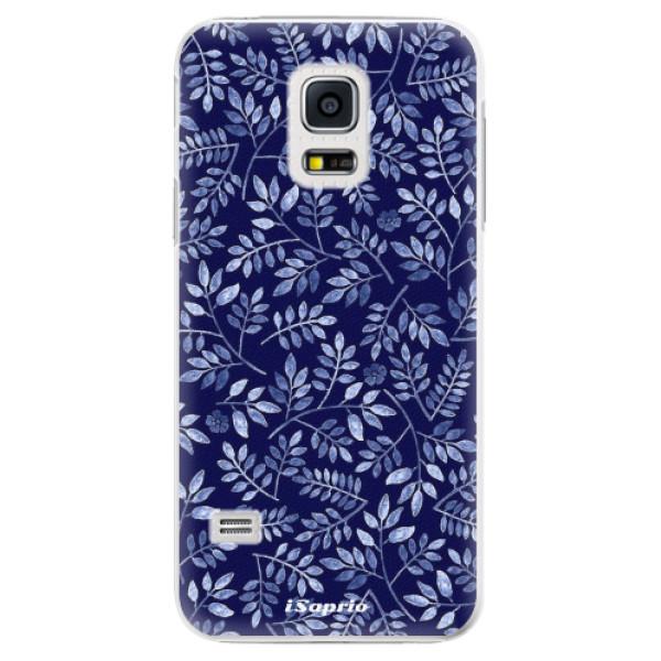 Plastové pouzdro iSaprio - Blue Leaves 05 - Samsung Galaxy S5 Mini