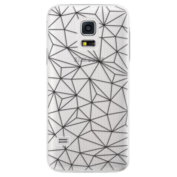 Plastové pouzdro iSaprio - Abstract Triangles 03 - black - Samsung Galaxy S5 Mini