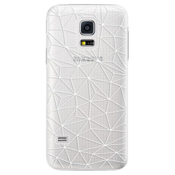 Plastové pouzdro iSaprio - Abstract Triangles 03 - white - Samsung Galaxy S5 Mini