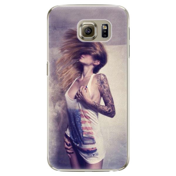 Plastové pouzdro iSaprio - Girl 01 - Samsung Galaxy S6