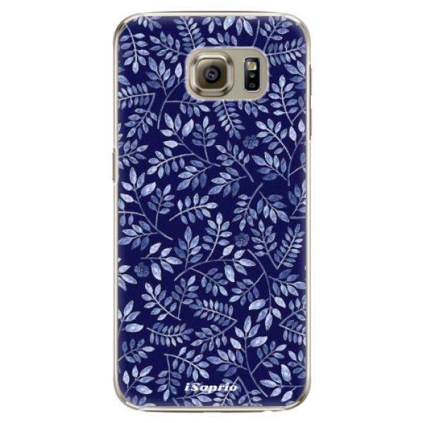 Plastové pouzdro iSaprio - Blue Leaves 05 - Samsung Galaxy S6 Edge