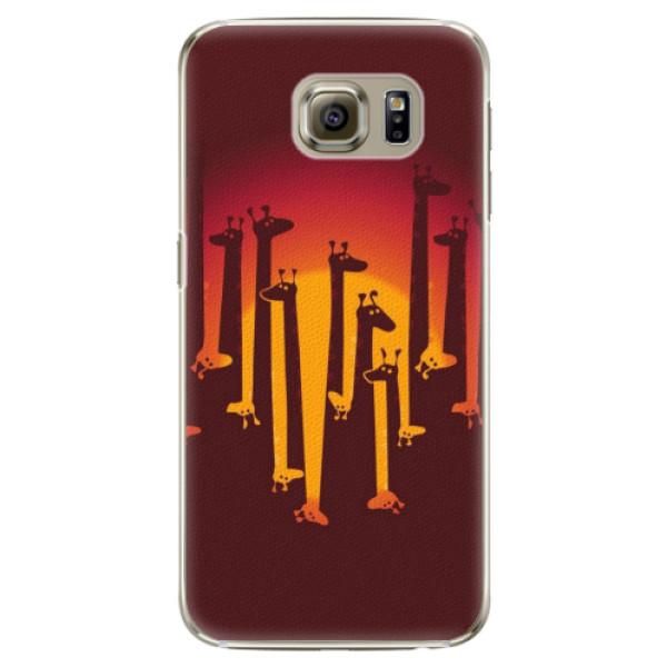 Plastové pouzdro iSaprio - Giraffe 01 - Samsung Galaxy S6 Edge
