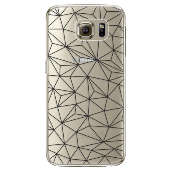 Plastové pouzdro iSaprio - Abstract Triangles 03 - black - Samsung Galaxy S6 Edge