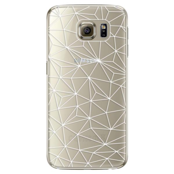 Plastové pouzdro iSaprio - Abstract Triangles 03 - white - Samsung Galaxy S6 Edge
