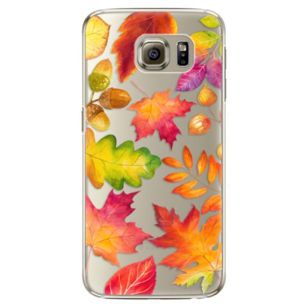 Plastové pouzdro iSaprio - Autumn Leaves 01 - Samsung Galaxy S6 Edge