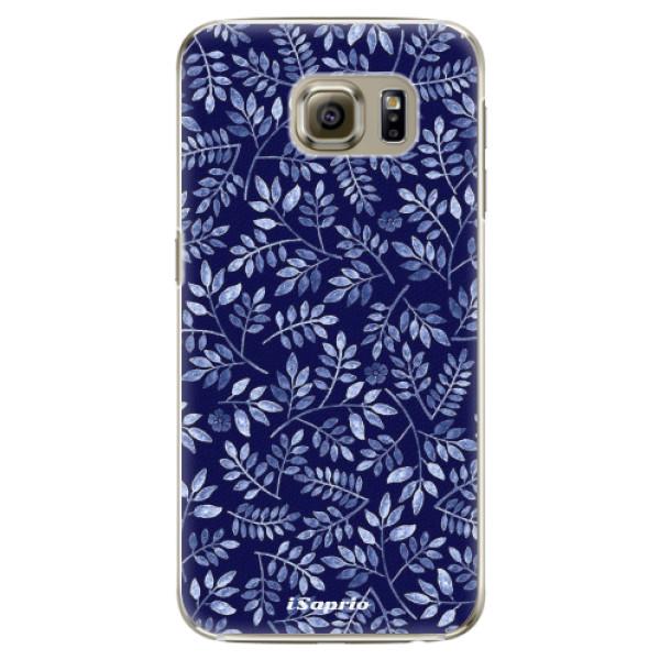 Plastové pouzdro iSaprio - Blue Leaves 05 - Samsung Galaxy S6 Edge Plus