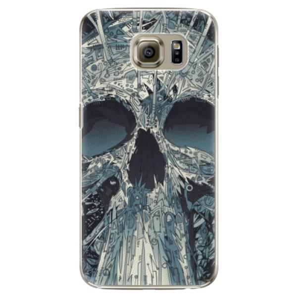 Plastové pouzdro iSaprio - Abstract Skull - Samsung Galaxy S6 Edge Plus