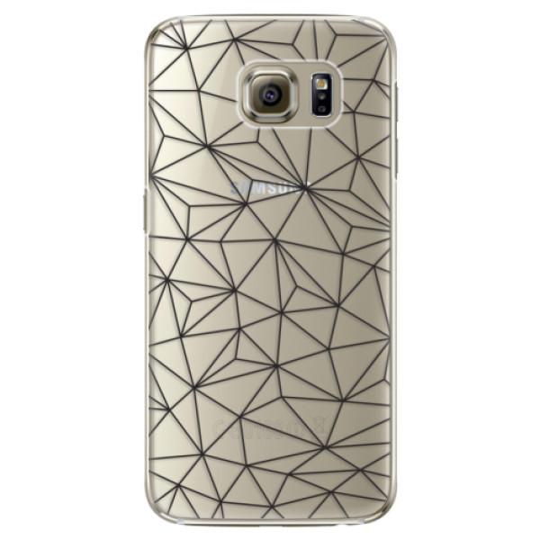 Plastové pouzdro iSaprio - Abstract Triangles 03 - black - Samsung Galaxy S6 Edge Plus