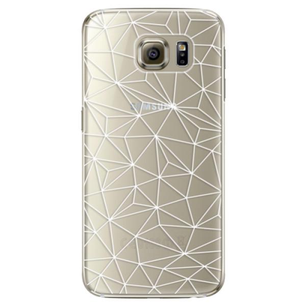 Plastové pouzdro iSaprio - Abstract Triangles 03 - white - Samsung Galaxy S6 Edge Plus