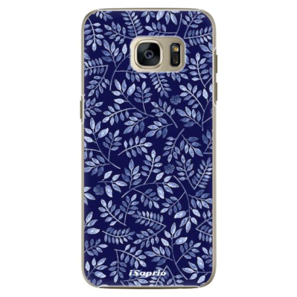 Plastové pouzdro iSaprio - Blue Leaves 05 - Samsung Galaxy S7