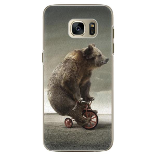 Plastové pouzdro iSaprio - Bear 01 - Samsung Galaxy S7