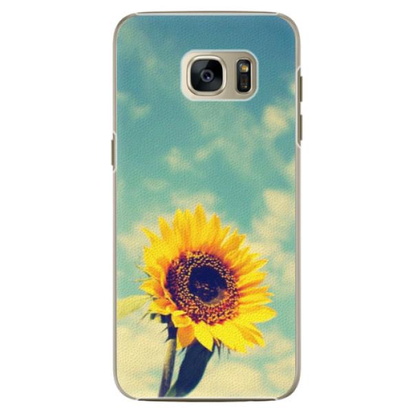 Plastové pouzdro iSaprio - Sunflower 01 - Samsung Galaxy S7
