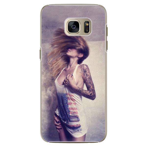 Plastové pouzdro iSaprio - Girl 01 - Samsung Galaxy S7