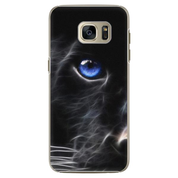 Plastové pouzdro iSaprio - Black Puma - Samsung Galaxy S7