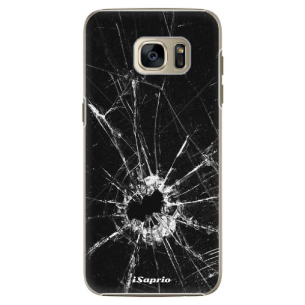 Plastové pouzdro iSaprio - Broken Glass 10 - Samsung Galaxy S7 Edge