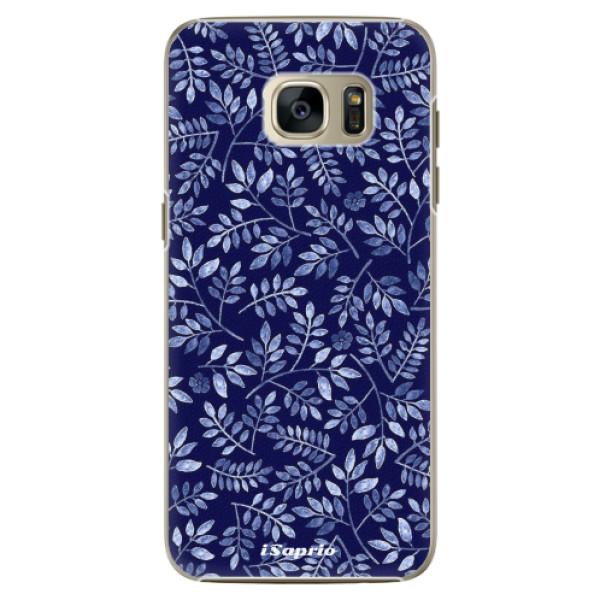 Plastové pouzdro iSaprio - Blue Leaves 05 - Samsung Galaxy S7 Edge