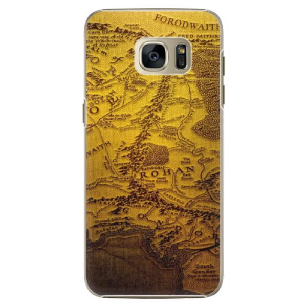 Plastové pouzdro iSaprio - Old Map - Samsung Galaxy S7 Edge