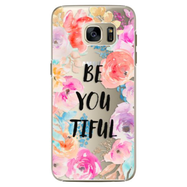 Plastové pouzdro iSaprio - BeYouTiful - Samsung Galaxy S7 Edge