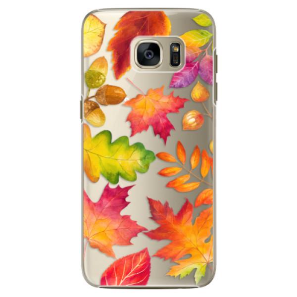Plastové pouzdro iSaprio - Autumn Leaves 01 - Samsung Galaxy S7 Edge