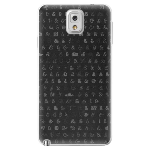 Plastové pouzdro iSaprio - Ampersand 01 - Samsung Galaxy Note 3
