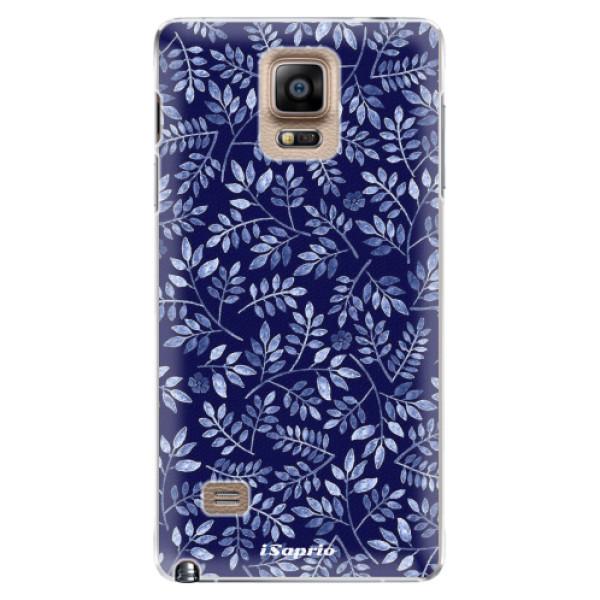 Plastové pouzdro iSaprio - Blue Leaves 05 - Samsung Galaxy Note 4