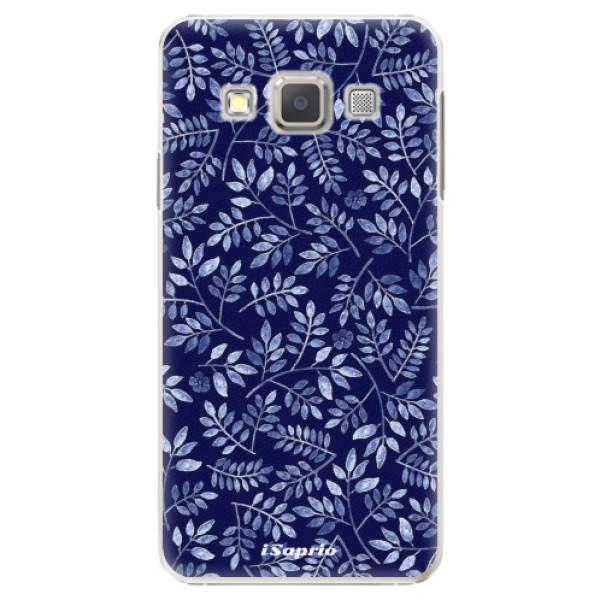 Plastové pouzdro iSaprio - Blue Leaves 05 - Samsung Galaxy A3