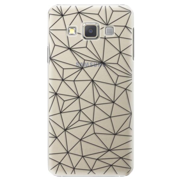 Plastové pouzdro iSaprio - Abstract Triangles 03 - black - Samsung Galaxy A3