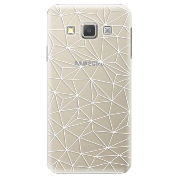 Plastové pouzdro iSaprio - Abstract Triangles 03 - white - Samsung Galaxy A3
