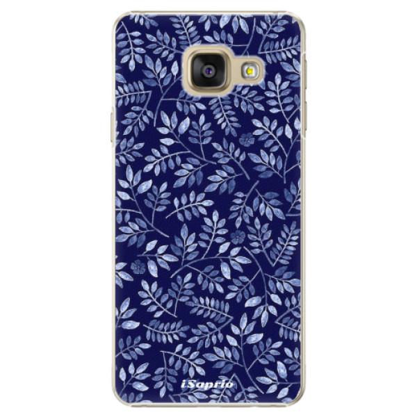 Plastové pouzdro iSaprio - Blue Leaves 05 - Samsung Galaxy A3 2016