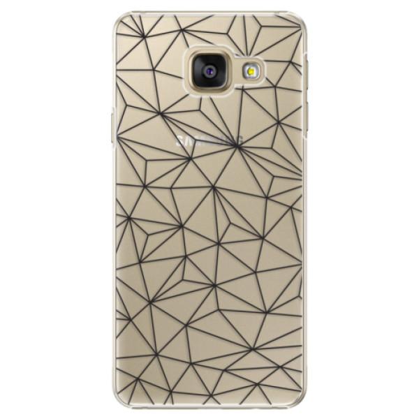 Plastové pouzdro iSaprio - Abstract Triangles 03 - black - Samsung Galaxy A3 2016