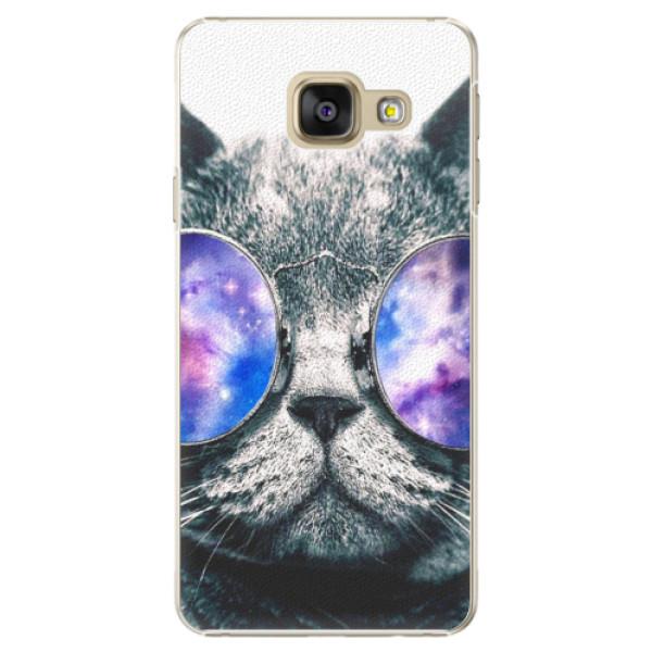 Plastové pouzdro iSaprio - Galaxy Cat - Samsung Galaxy A3 2016