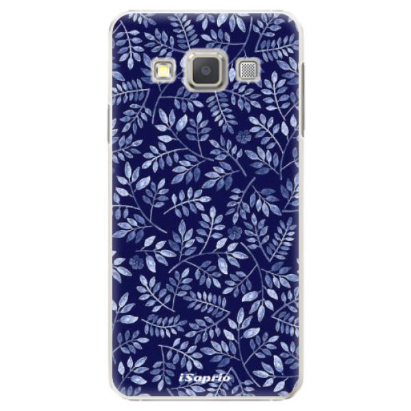 Plastové pouzdro iSaprio - Blue Leaves 05 - Samsung Galaxy A5