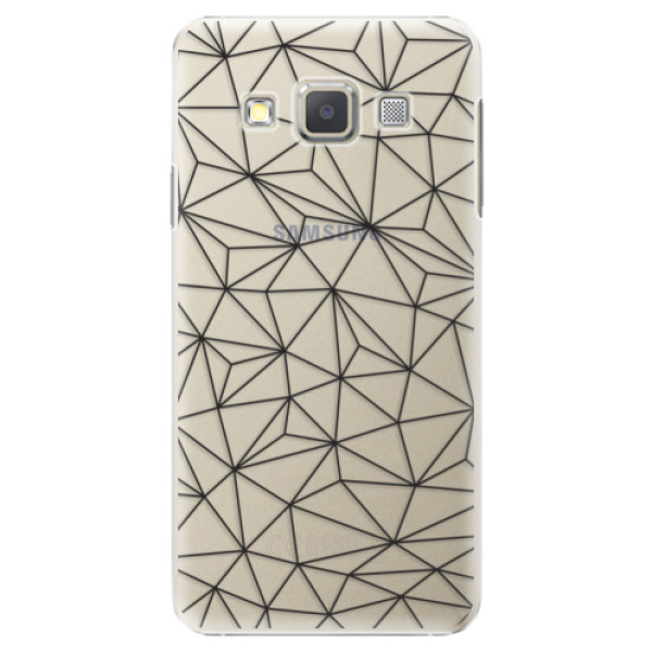 Plastové pouzdro iSaprio - Abstract Triangles 03 - black - Samsung Galaxy A5