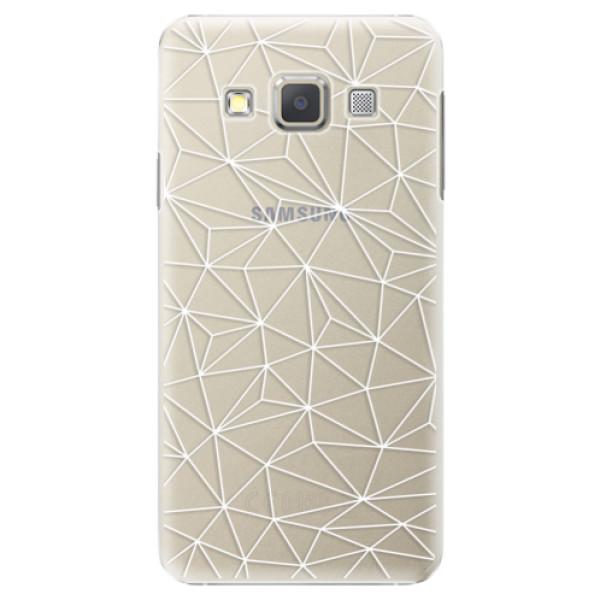 Plastové pouzdro iSaprio - Abstract Triangles 03 - white - Samsung Galaxy A5