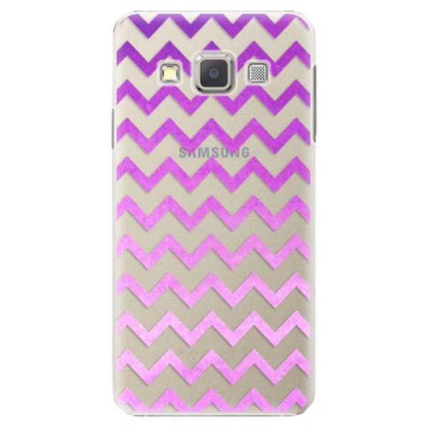 Plastové pouzdro iSaprio - Zigzag - purple - Samsung Galaxy A5