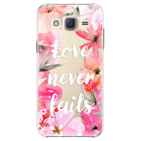 Levně Plastové pouzdro iSaprio - Love Never Fails - Samsung Galaxy J5