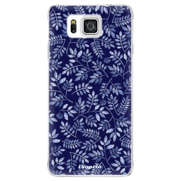 Plastové pouzdro iSaprio - Blue Leaves 05 - Samsung Galaxy Alpha