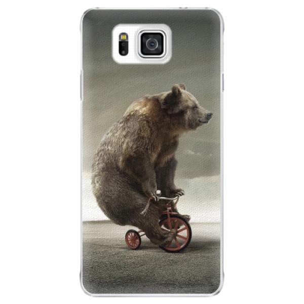 Plastové pouzdro iSaprio - Bear 01 - Samsung Galaxy Alpha